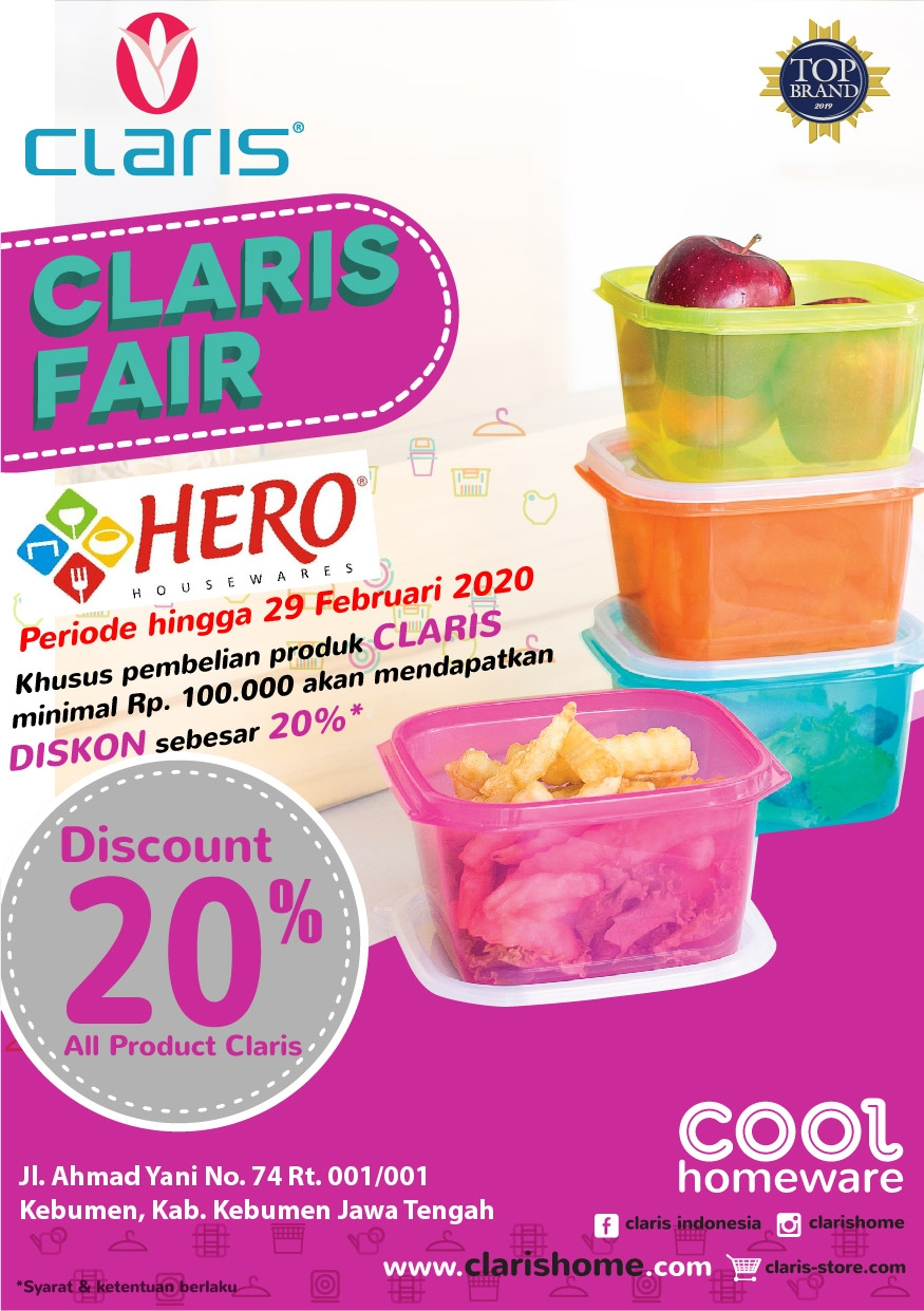 CLARIS X HERO HOUSEWARE